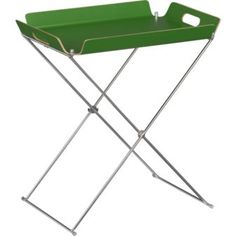formosa clover tray table in green $49.95 //CB2