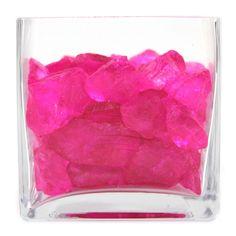 Crushed Glass Vase Fillers - Fuchsia Pink   #pink #fuchsia #vase #filler #pretty #decor