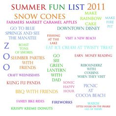 Great Idea: Summer Fun Checklist!