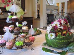 watermelon basket with fresh flowers