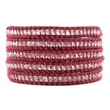 Fandango Thread Wrap Bracelet on Natural Brown Leather  $195.00