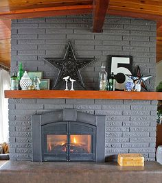 some day I WILL have a fireplace (or at least a cute mantel to fill with stuff)!