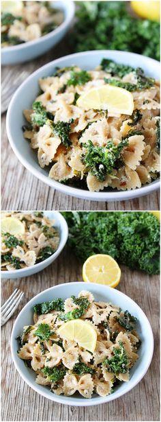 Goat Cheese Lemon Pasta with Kale Recipe