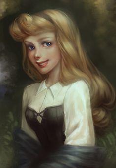 sleeping beauty, princess style, disney fan art, princess aurora, disney princesses