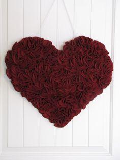Door Decor  Door Wreath Wall by Appleberryblue, $49.50;  Valentine's Day wreath
