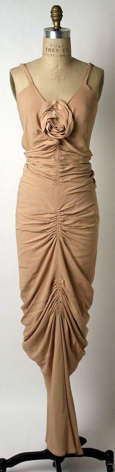 Evening dress, Edward Molyneux  (French (born England), London 1891–1974 Monte Carlo)   Date: 1935 Culture: French Medium: synthetics
