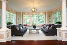 Grey Couch Tan Walls