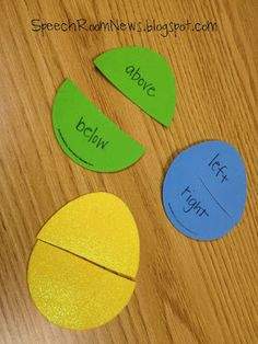 Free! More fun Easter activities from speechroomnews!!! Positional concepts & more! Repinned by SOS Inc. Resources.  Follow all our boards at http://pinterest.com/sostherapy  for therapy resources.