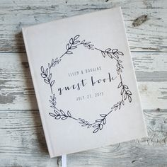 Custom Wedding Guestbook Guest Book  by starboardpress on Etsy, $39.50