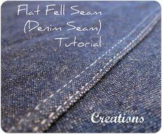 denim seam, sewing machines, flat seam, denim jeans, photo tutorial, flat fell, seam tutori, fell seam, denim skirts