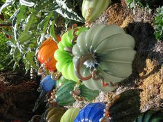 Chihuly glass pumpkins!