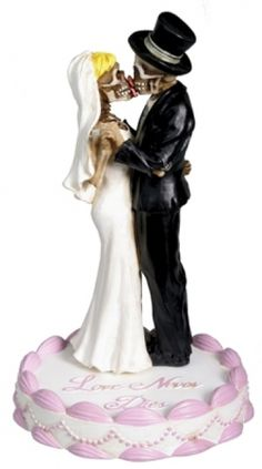 Wedding Skulls Kissing Skeletons Wedding Cake Topper