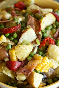 So yummy with a LIGHT dressing! Best Potato Salad Recipe | reluctantentertainer.com