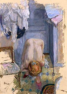 Nu Accroupi Penché En Avant - Pierre Bonnard