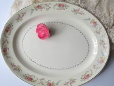 Large Vintage Paden City Floral Serving Platter by thechinagirl, $34.50