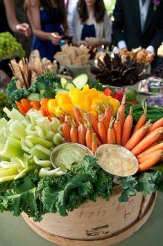 Beautiful Display Idea For Veggies & Dip