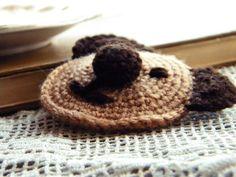 Teddy Bear Crochet Brooch
