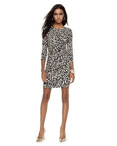 Jersey Cheetah Print Dress #wildatheart