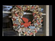 ▶ Stampinjill - Designer Series Paper Wreath - YouTube