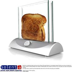 Transparent Hi-Tech glass toaster
