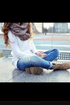 Fall outfit.  I am making that scarf