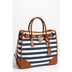 Michael Kors Nautical Bag.  Love, love... kor handbag, fashion, purs, accessori, michael kors, summer bags, beauti handbag, kor bag, stripe