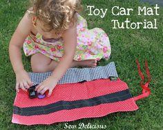 toy car mat - tutorial