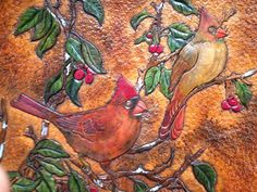 Dharma Trading Co. Featured Artist: Harry Phillips- leather tooling and painting