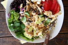 Chicken & Black Bean Burrito Bowls ‹ Hello Healthy