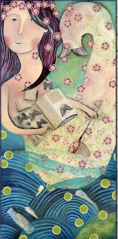 Mermaid dreams: fly / Sueñan las sirenas con volar (ilustración de Arianna Russo)