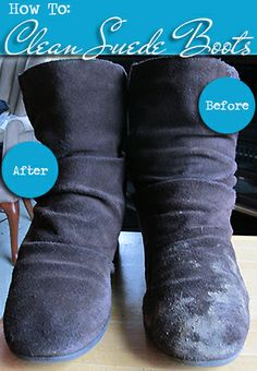 How To: Clean Suede Boots.