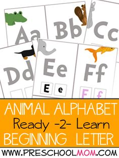 Preschool Printables: Alphabet Flashcards with Letter Tiles