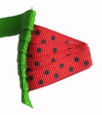 Watermelon Bow Hair Clip