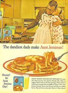 """""""You're my dad AND my aunt!"""" (Funny bad retro pancake ads)"""