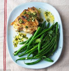 Chicken with gremolata and green beans