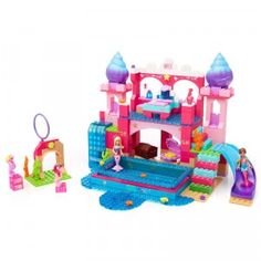 The Barbie Build 'n Play Underwater Castle is a 419-piece sparkly construction set that lets kids build an underwater castle for the Mermaid Barbie.