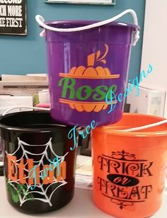 Personalized Halloween Buckets, these were so popular this year
