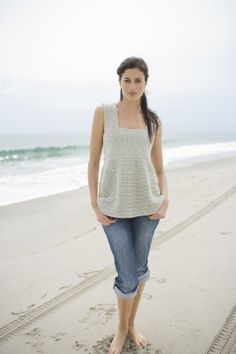 Free Crochet Pattern - Sea Breeze Top. Really like this for summertime.