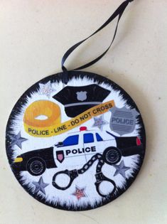 Police Christmas Ornament or gift tag Free personalization by HeavenlyDesigns1, $6.00