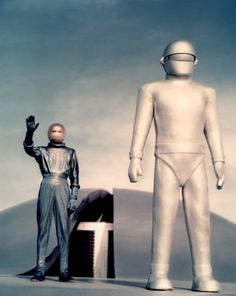 Gort & Klaatu are pleased to make your acquaintance in The Day The Earth Stood Still (1951, dir. Robert Wise)