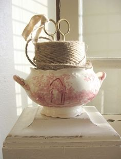 A creative way to use an old piece of transferware