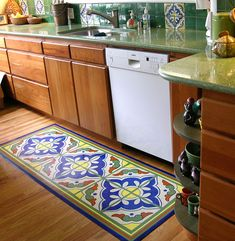 Painted floor cloths on pinterest painted floor cloths for Painted vinyl floor cloth