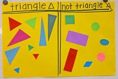 shape activities, elementary teaching ideas, shape sort, geometric shapes, learning shapes