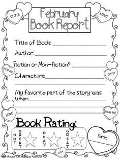 February Book Report Freebie
