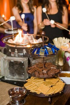 SMORES!!!  Can't go wrong with chocolate, marshmallows, and graham crackers!!