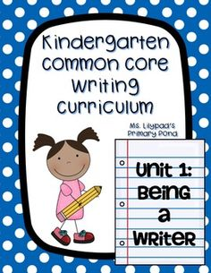 Beginning of the school year minilessons, posters, and rubrics for Writer's Workshop!  Designed for Kindergarten.
