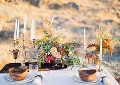 Wild and romantic wedding tablescape | photography by http://www.alixannlooslephotography.com/