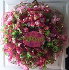 1000+ images about how to make mesh wreaths on pinterest