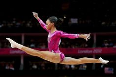 Gabrielle Douglas of the United States competes on the balance beam in the Artistic Gymnastics Women's Individual All-Around final on Day 6 of the London 2012 Olympic Games at North Greenwich Arena on August 2, 2012 in London, England.