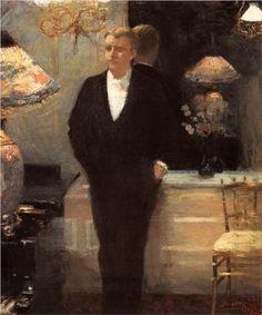 Portrait of Octave Maus - Theo van Rysselberghe